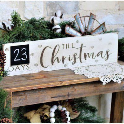 Personalised Oak Wood Christmas countdown plaque Sign Sleeps until Santa Visits Children/'s Chalk Countdown Plaque