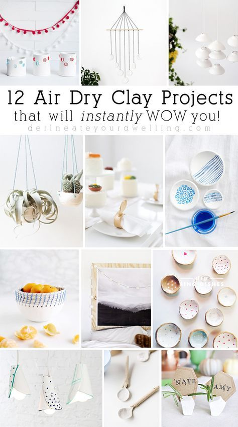 DIY: Super easy air dry clay projects   Air dry clay, Super easy and ...