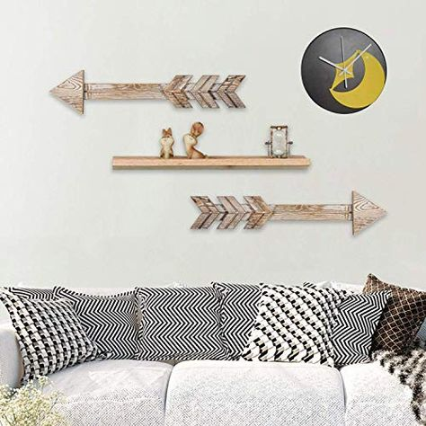 Rustic Wood Arrow Sign Wall