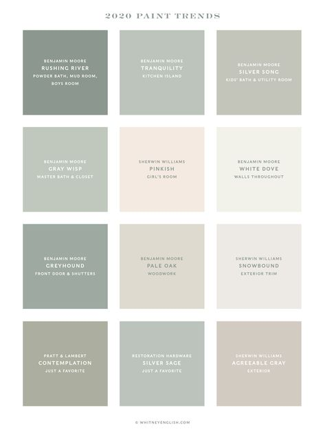 My Personal Home Paint Color Palette - Whitney EnglishFacebookInstagramPinterestTwitter