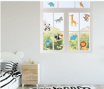 X21 Animals Kids Bedroom Double Sided Static Cling Window Stickers Decals Cl12 Window Stickers Kids Bedroom Static Cling