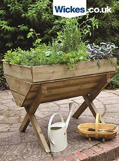Forest Garden Kitchen Garden Trough 870mm X 1m In 2020 Garden Troughs Kitchen Garden Forest Garden