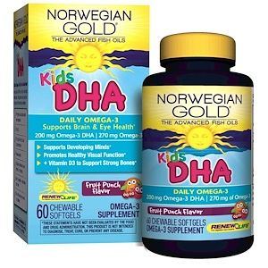 Renew Life Norwegian Gold Kids Dha Fruit Punch Flavor 60 Chewable Softgels Iherb Com Fruit Punch Fish Oil For Kids Renew Life