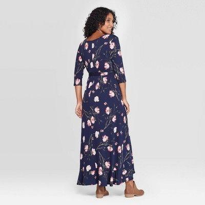 Ingrid /& Isabel Womens 3//4 Sleeve Wrap Maternity Dress