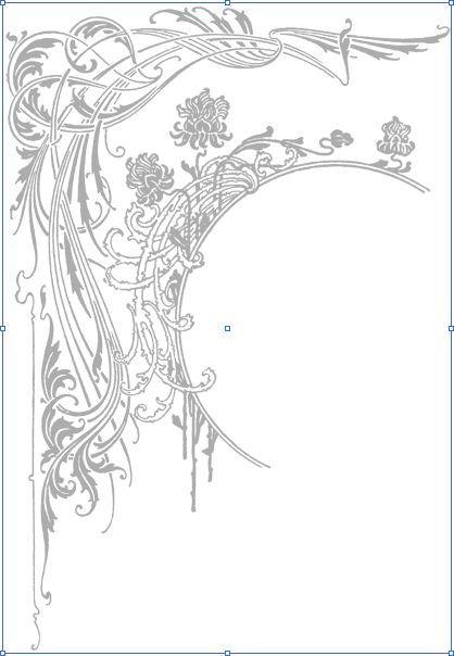 Blumenmotive Im Art Nouvou Stil Jugendstil