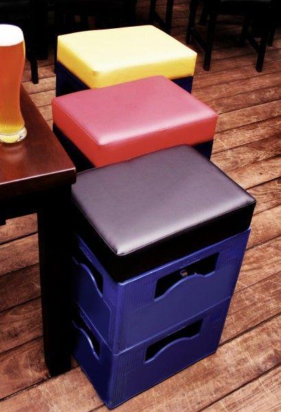 Bierkasten Sitzauflage Sitzkissen Beersit Bierkasten