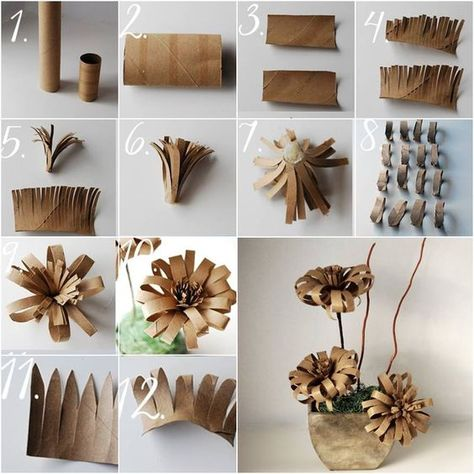 Find Utility In 21 Creative Toilet Paper Roll Crafts . Find Utility In 21 Creative Toilet Paper Roll Crafts diy crafts using toilet paper rolls - Diy Paper Crafts Toilet Paper Roll Diy, Paper Towel Roll Crafts, Toilet Paper Roll Crafts, Cardboard Crafts, Diy Paper, Paper Crafting, Cardboard Paper, Toilet Paper Tubes, Paper Roll Art