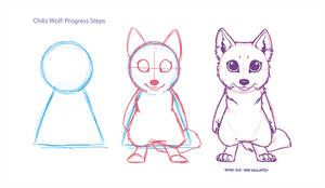 Little Tutorial Chibi Wolf By Wyn De Weynilard In 2020 Chibi Sketch Chibi Drawings Furry Drawing