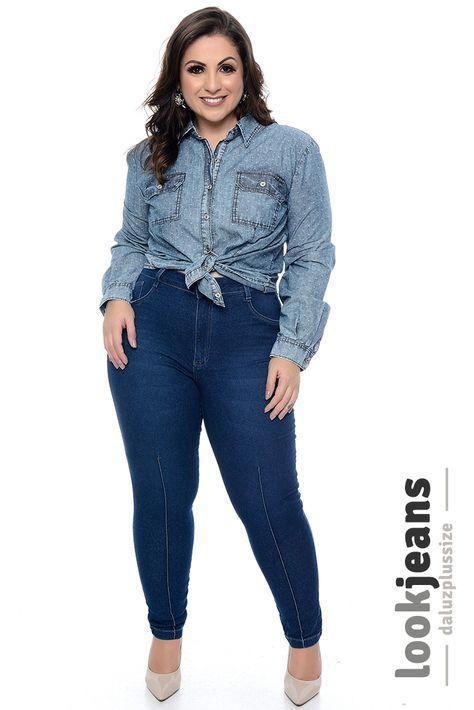 dbdcfe4f7 Calça Skinny Jeans Plus Size Ranuzya