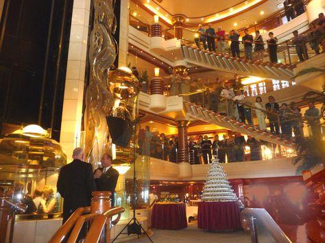 Interior atrium of the Island Princess cruise ship. photo - taboo5 ...