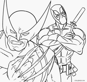 Deadpool And Wolverine Coloring Pages Coloring Pages Marvel Coloring Avengers Coloring Pages