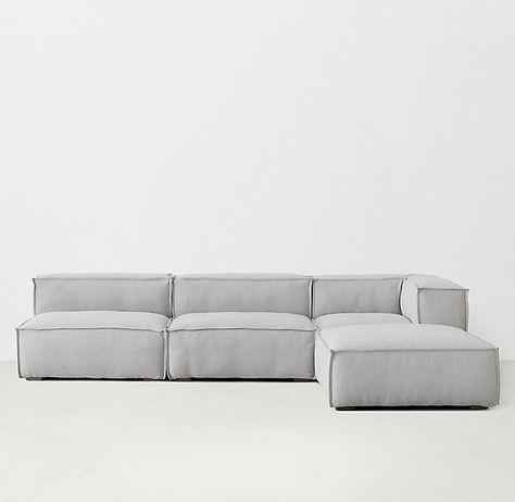 Rowan Upholstered Modular Armless Chair Modular Couch Couches