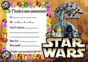 carte dinvitation anniversaire imprimer gratuit pour garon carte invitation anniversaire pinterest - Carte Anniversaire Star Wars Imprimer