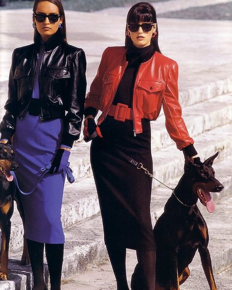 Yasmin Le Bon and Gail Elliot 1992 Escada