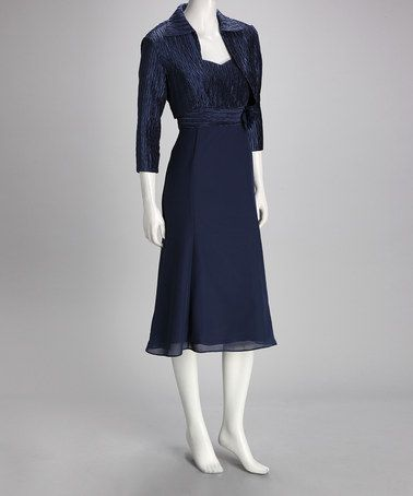 Take a look at this Midnight Blue Cropped Jacket & Dress by Danny & Nicole on #zulily today!