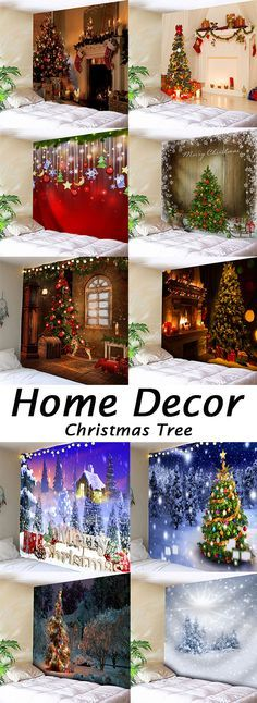 Are You Looking For Wall Tapestry Cheap Casual Style Online Dresslily Com Offers The Latest High Quality Wall T Christmas Backdrops Xmas Decorations Christmas