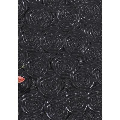 Black 3d Rose Flower Pattern Foam Peel And Stick Wallpaper 28 In X 28 In Per Piece 10 Piece In 2020 Rose Flower Pattern Peel And Stick Wallpaper Wallpaper Border