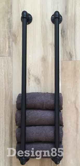 Handdoekrek Industrieel Zwart Online Kopen Design85 Badkamer Goedkoop Handdoekrekken Badkamer