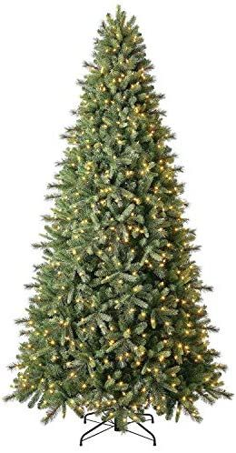Evergreen Classics 9 Ft Pre Lit Norway Spruce Quick Set Artificial Christmas Tree Warm White Led Lig White Led Lights Artificial Christmas Tree Christmas Tree