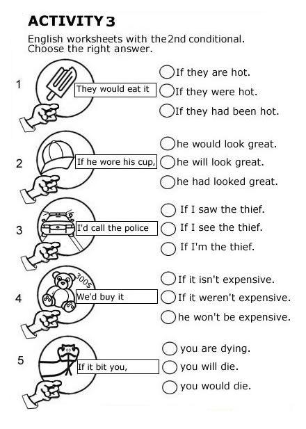 2º Condicional En Ingles Worksheets Worksheets For Kids Worksheets Free