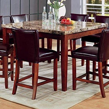 Coaster Classy Marble Top Square Dining Table 36 Inch Height