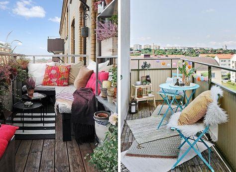 Terrazza In Legno Arredo Divano Balcone Con Immagini Giardino