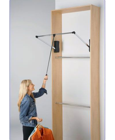 Heavy Duty Pull Down Closet Rod In Closet Rods And Brackets Hafele Closet Rod Closet Planning