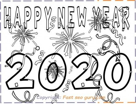 Printable Happy New Year 2020 Coloring Pages Printable Coloring Pages For Kids New Year Coloring Pages Coloring Pages For Kids New Year S Eve Crafts
