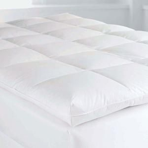 The Company Store Baffled Square 4 In Queen Down Featherbed Mattress Topper Fa31 Q White The Home Depot Mattress Mattress Topper Mattress On Floor