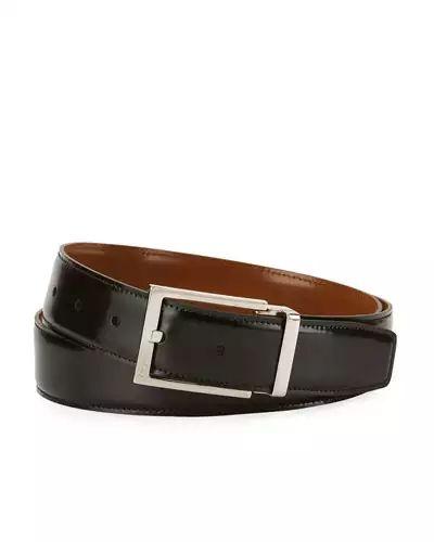 Salvatore Ferragamo Men's Reversible Lux Calfskin Leather