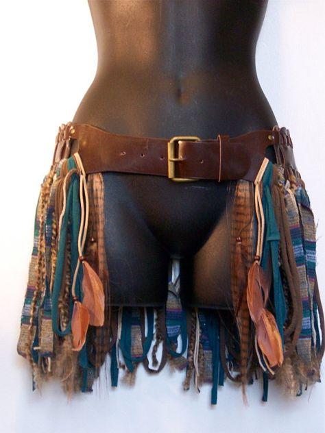 Hip skirt hip belt pixiehooping skirttattered by LamaLuz on Etsy, $66.00