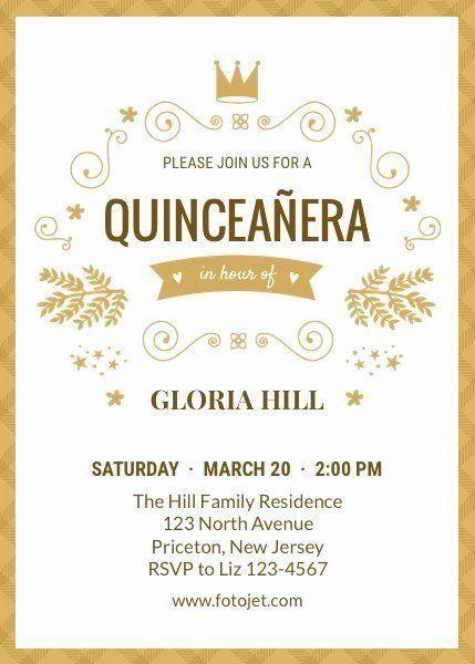 Invitation Maker For Quinceanera Beautiful Design Your Own Quinceanera Invitations L In 2020 Quinceanera Invitation Wording Invitation Template Quinceanera Invitations