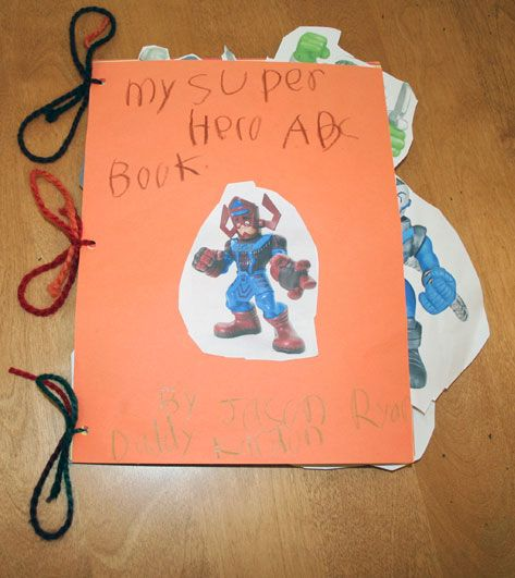 How to Make Your Very Own Superhero ABC Book | Great follow-up activity for Superhero ABC read aloud... maybe have each student do a letter? Or collaborate as a class on each one?