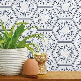Hello Sunshine Geometric Pattern Wallpaper Geometric Removable Wallpaper Removable Wallpaper