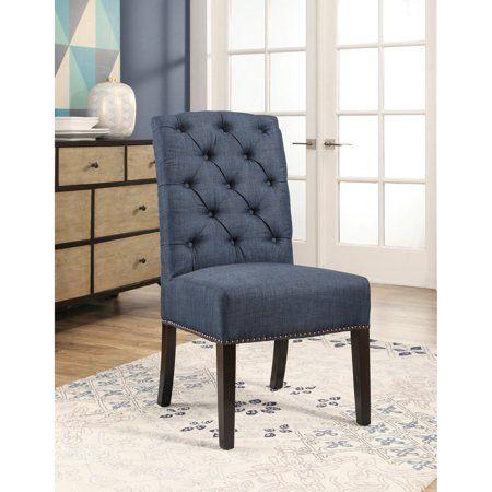 Awe Inspiring Abbyson Lewis Linen Parsons Dining Chair Walmart Com Ncnpc Chair Design For Home Ncnpcorg