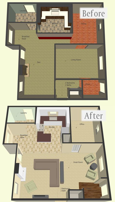 How To Make A Digital Floorplan With SketchUp Google, Furniture
