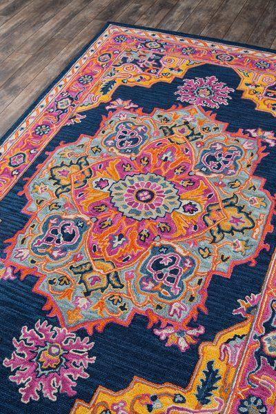 Lancaster Oriental Handmade Hand Tufted Wool Navy Area Rug Wool Area Rugs Rugs On Carpet Rugs
