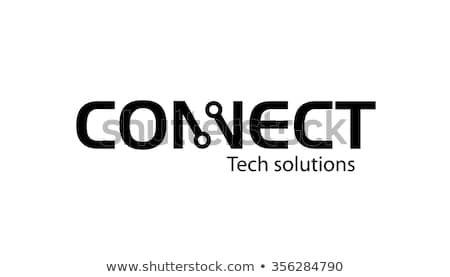 Connecting Typography Logo Symbol Design Illustration Stock Vector (Royalty Free) 356284790