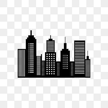 Gambar Latar Belakang Cakrawala Kota Hitam Dan Putih Clipart Kota Kaki Langit Kota Png Dan Vektor Dengan Latar Belakang Transparan Untuk Unduh Gratis Black And White Background City Silhouette Black And