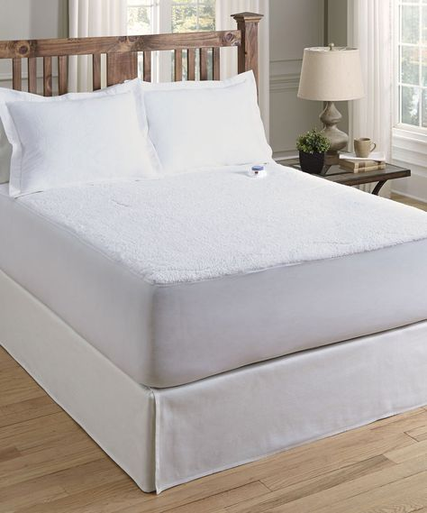 Perfect Fit Industries White Low Voltage Sherpa Warming Mattress Pad Zulily Heated Mattress Pad Mattress Pad Mattress Pad Queen
