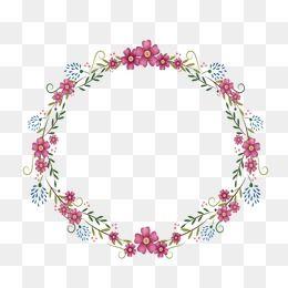 Flowers Round Frame Flowers Round Frame Flower Png Images Art Drawings Simple Cartoon Flowers
