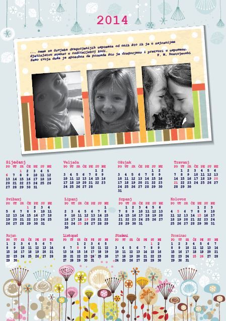 Memories preserved 365 days of 2014 year personalized calendars