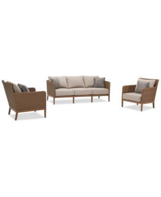 San Lazzaro Outdoor Woven 3 Pc Seating, Lazzaro Furniture Reviews