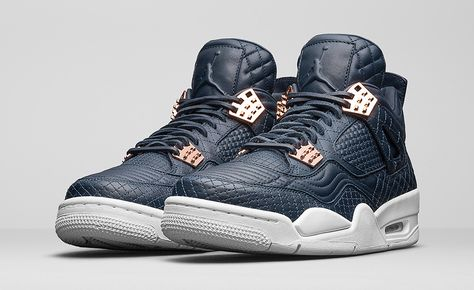 The Jordan 4 Is Dressed in Obsidian Lambskin for Its Next Premium Release |  Magazines, Shoe game and Sneaker heads