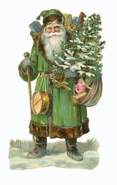 Way before Pugilist Brand Beard care products, the original 'Father Christmas' figure dates back to 17th century England. Most pictures of Father Christmas before 1880 showed him wearing a big green coat.