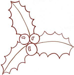 How To Draw Christmas Holly With Easy Tutorial How To Draw Step By Step Drawing Tutorials Christmas Tree Drawing Christmas Drawing Cartoon Christmas Tree