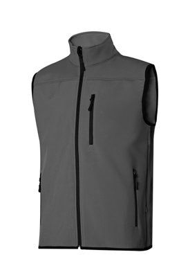 Chaleco Soft Shell Gris T Xl Leroy Merlin Chalecos Ropa Corporativa Ropa