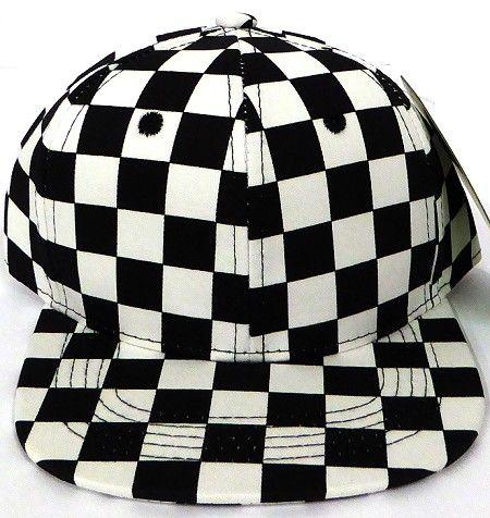 Kids Jr Snapback Hats Wholesale Black Checkered Art Design In 2020 Snapback Hats Snapback Checkered
