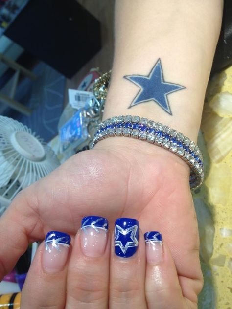 I have to say this may be the one... it matches my hubs tattoo, a major cowboy fan, and now I am too, I love stars..so why not?
