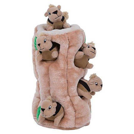 Hide A Squirrel Fun Hide And Seek Interactive Puzzle Plush Dog Toy